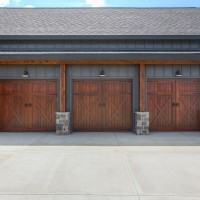 Three-car garage design